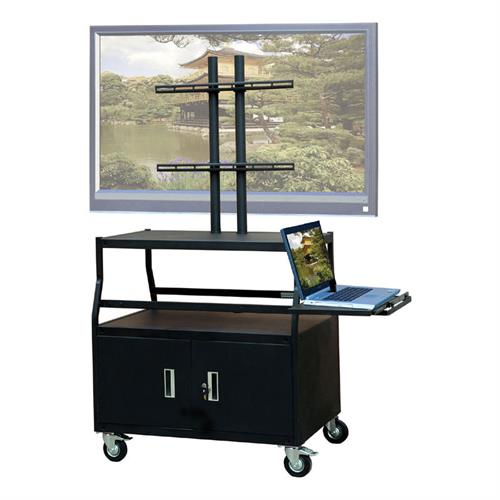 View a larger image of the VTI FPCAB4420E Mobile Cabinet with 55 inch TV Mount and Pull Out Shelf.