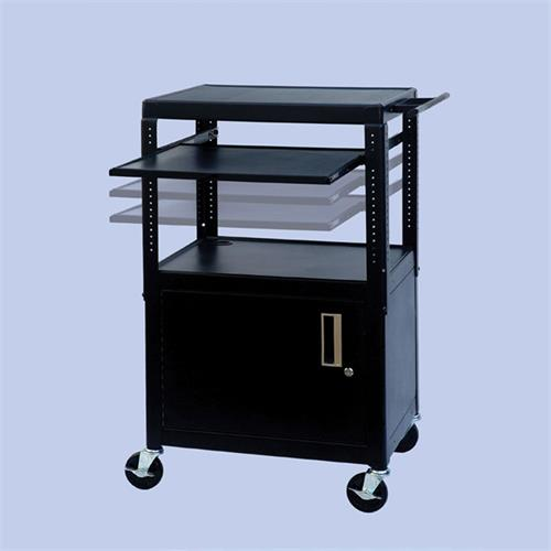 View a larger image of the VTI FSCAB4226E Height Adjustable Mobile Cabinet with Pull Out Shelf.