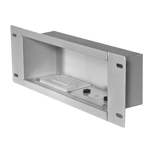 View a larger image of the Peerless IBA3AC-W White Recessed Storage Box with Power Receptacle.