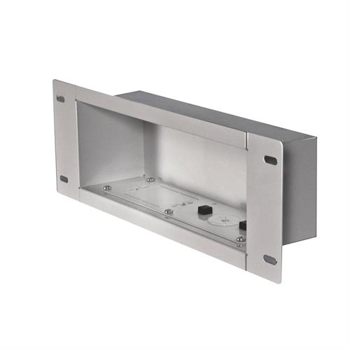 View a larger image of the Peerless IBA3-W White Recessed Cable Management Storage Box.