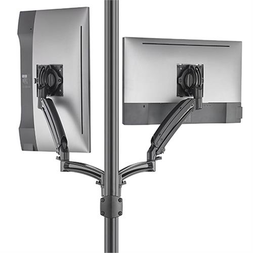 View a larger image of the Chief Kontour Dynamic Pole Mount Reduced Height, 2 Monitor, BLK, K1P220BXRH.