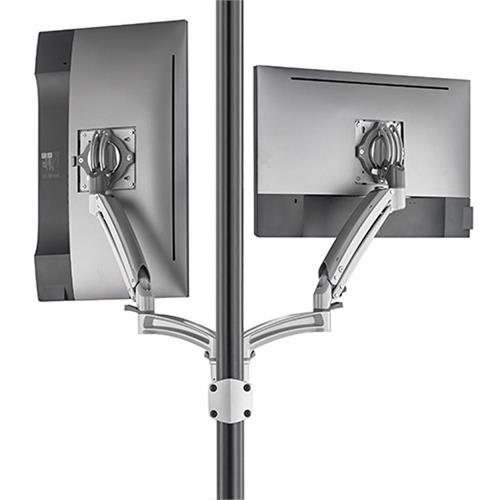 View a larger image of the Chief Kontour Dynamic Pole Mount Reduced Height, 2 Monitor, SLV, K1P220SXRH.