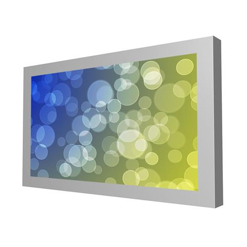 "View a larger image of the Peerless KIL643-35D-S Silver Indoor 43"" On-Wall Landscape Kiosk."