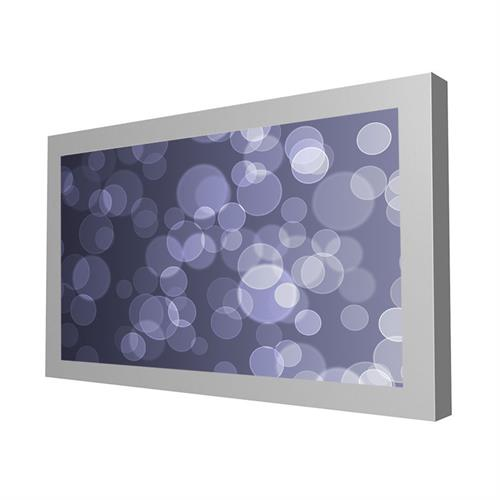 "View a larger image of the Peerless KIL646-S Silver Indoor Landscape Wall Kiosk Enclosure for 46"" Screens."
