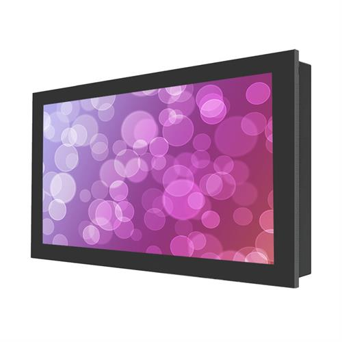 "View a larger image of the Peerless KIL740 Black Indoor Landscape In-Wall Kiosk Enclosure for 40"" Screens."