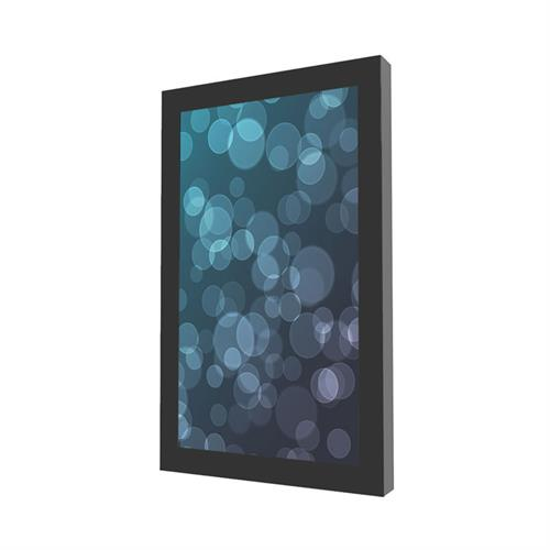 View a larger image of the Peerless KIP643 Black Indoor Portrait Wall Kiosk Enclosure for 43 inch Screens.