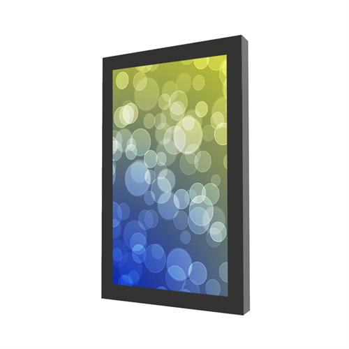 "View a larger image of the Peerless KIP648-35D Indoor Black 48"" On-Wall Portrait Kiosk."