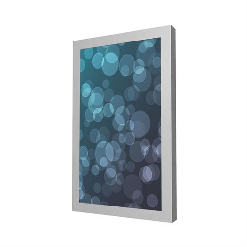 "View a larger image of the Peerless KIP640-S Silver Indoor Portrait Wall Kiosk Enclosure for 40"" Screens."