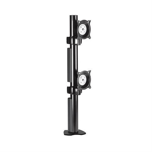 View a larger image of the Chief KTC230B K-Series Vertical 1X2 Desk Clamp Mount.
