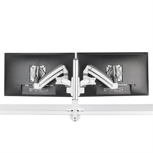 View a larger image of the Chief Kontour Slim Dynamic Column Desk Mount, 2 Monitors, White, KXC220W here.