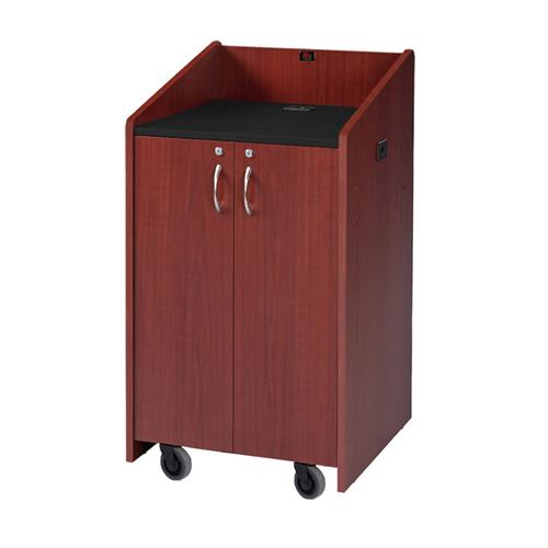 View a larger image of the Audio Visual Furniture LE3050-DC Clearance Dark Cherry Lectern.