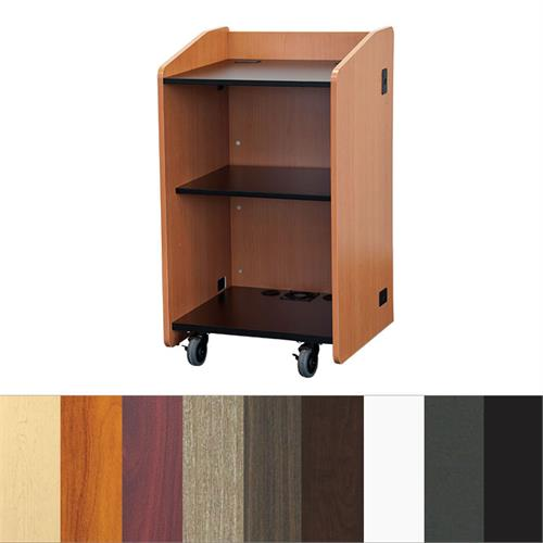 View a larger image of Audio Visual Furniture LE3060 Open Flat Top Lectern.