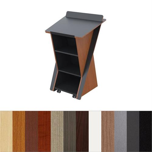 View a larger image of the Audio Visual Furniture Stylish Presentation Lectern, LEX321 here.
