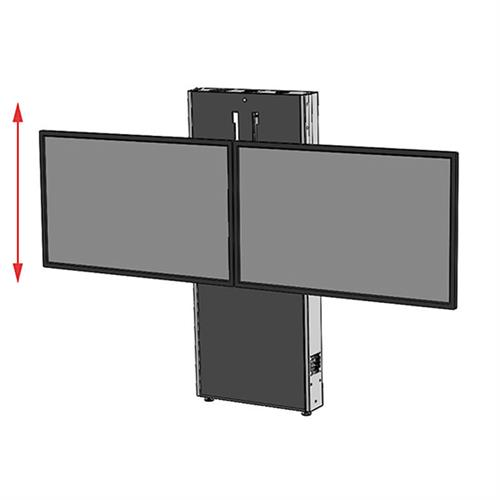 View a larger image of the Audio Visual Furniture LFT7000WM-D Dual Screen Electric Lift Mount.