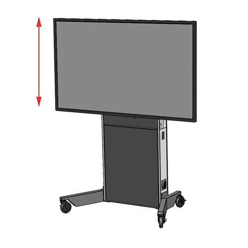View a larger image of the Audio Visual Furniture LFT7000-XL Extra Large Electric Lift Cart.