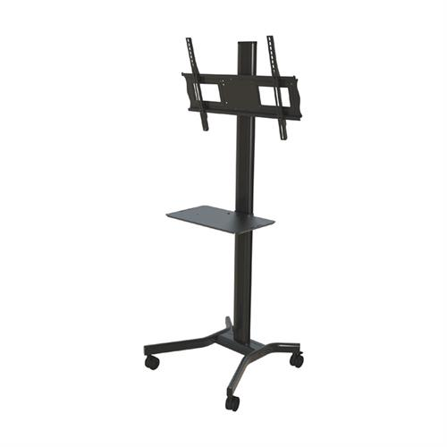 "View a larger image of the Crimson M631 72"" Cart with Metal Shelf and Tilt Mount for Large Screens."