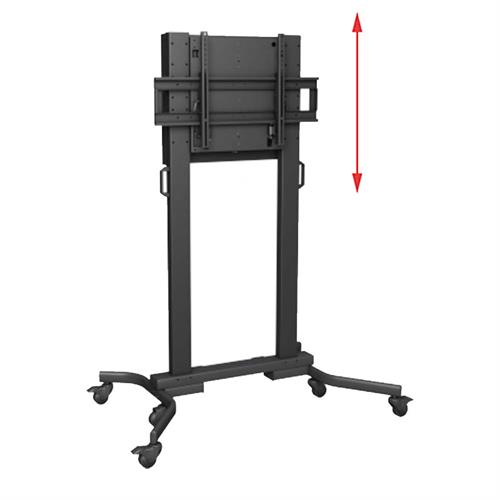 View a large image of Crimson XL Height Adjustable Mobile Monitor Cart with BalanceBox, M90B here.