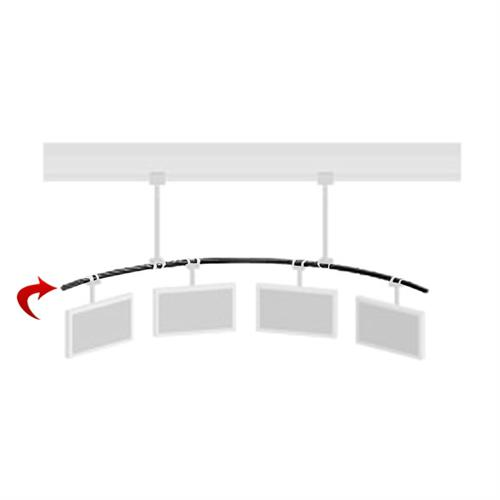 View a larger image of the Peerless MDJ711 15 ft Curved Pole for Multi-Display Ceiling System.