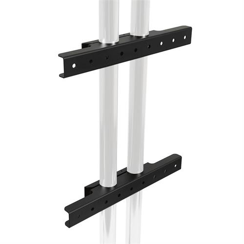 View a larger image of the Peerless Modular Series Dual Pole Wall Mount Interface (Black) MOD-AWM2.