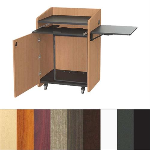 View a larger image of the Audio Visual Furniture PD3004 Economy Podium with Rack (14RU).