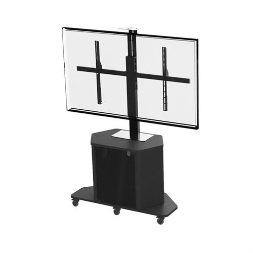 View a larger image of the Audio Visual Furniture XL Single Display Cart (14 RU) PL3070-XL.