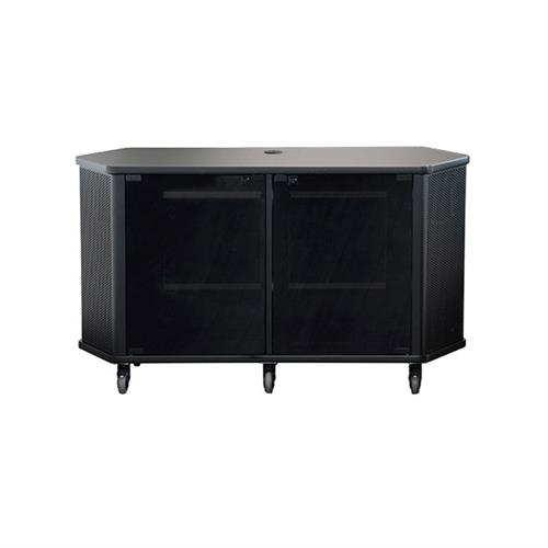 View a larger image of the Audio Visual Furniture PL3072 Wide Monitor Cart (14RU).