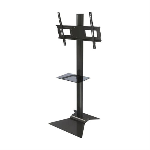 "View a larger image of the Crimson S631G 69"" Stand with Glass Shelf and Tilt Mount for Large Screens."