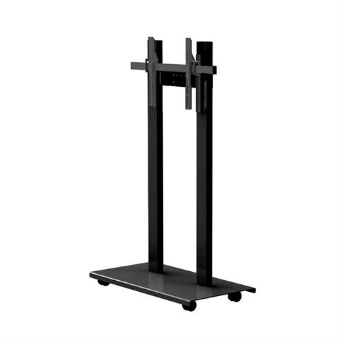View a larger image of the Audio Visual Furniture SYZ84-S-B Mobile Display Stand for Large Screens.