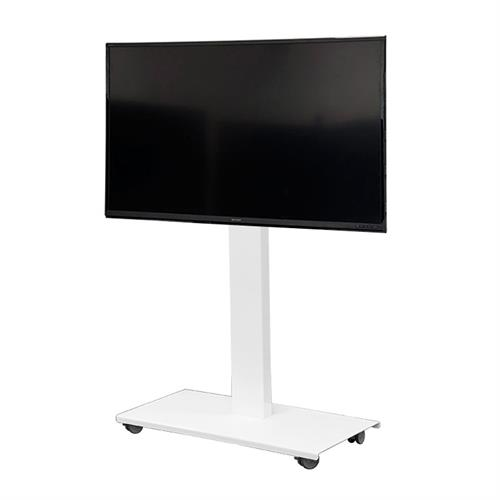 View a larger image of the Audio Visual Furniture SYZ84-S-W Monitor Cart for Large Screens.
