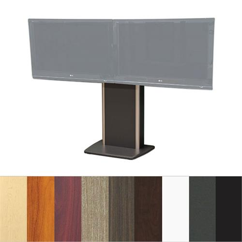 View a larger image of the Audio Visual Furniture TP800-D Fixed Base Dual Telepresence Stand.