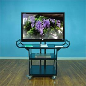 View a larger image of the VTI 10200 Three Shelf Audio Video Cart with 55 inch TV Mount.