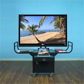 View a larger image of the VTI 10235-SAMPLE AV Cart with 65 inch TV Mount and Locking Cabinet (Floor Model).