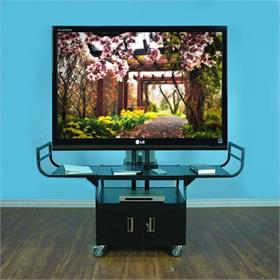 View a larger image of the VTI 10400 AV Cart with 80 inch TV Mount and Locking Cabinet.