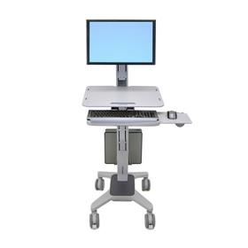 View a large image of the Ergotron Sit-Stand Workstation (WorkFit-C, Single, Light) 24-198-055 here.