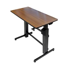 View a large image of the Ergotron Sit-Stand Desk (WorkFit-D, Walnut) 24-271-927 here.