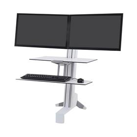 View a large image of the Ergotron Sit-Stand Desk Mount (WorkFit-S, Dual, WS, Front, WT) 33-349-211 here.