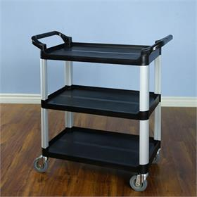 View a larger image of the VTI 58100 Multi Function Utility Cart (Grey Pole Black Shelf).