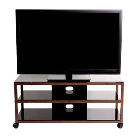 View a larger image of the TransDeco Steel TV Stand for 30-55 inch Screens (Oak and Black) TD585DB here.