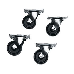 View a larger image of the Middle Atlantic Slim 5 Series Casters (4 Pack) 5W.