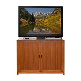 View a larger image of the Touchstone Elevate Mission TV Lift Cabinet (50 inch, Light Oak) 72006.