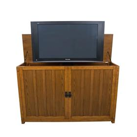View a larger image of the Touchstone Grand Elevate Mission TV Lift Cabinet (65 in, Lt Oak) 74006.