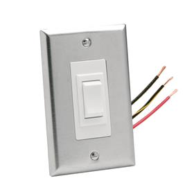 View a large image of the Da-Lite Replacement Wall Switch (110V, Stainless Steel) 92055 here.