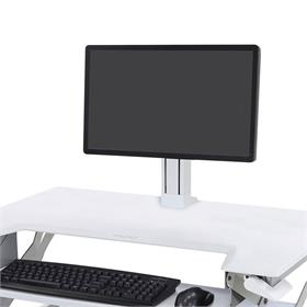 View a large image of the Ergotron WorkFit Monitor Kit (Single, Light, White) 97-935-062 here.