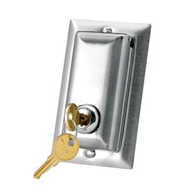 View a large image of the Da-Lite Locking Switch Cover Plate (Stainless Steel) 98837 here.