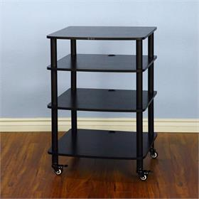 View a larger image of the VTI AR404BB AR Series 4 Shelf Audio Rack (Black Pole Black Shelf).