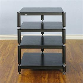 View a larger image of the VTI BL304BB BL Series AV Rack (Black Cap Black Frame Black Shelf).