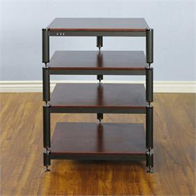 View a larger image of the VTI BL304BC BL Series AV Rack (Black Cap Black Frame Cherry Shelf).