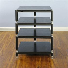 View a larger image of the VTI BL304SB BL Series AV Rack (Silver Cap Black Frame Black Shelf).