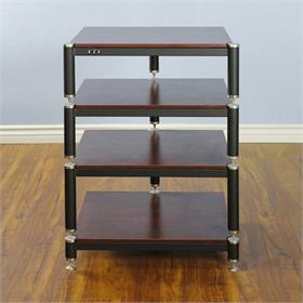 View a larger image of the VTI BL304SC BL Series AV Rack (Silver Cap Black Frame Cherry Shelf).