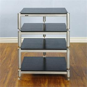 View a larger image of the VTI BL304SSB BL Series AV Rack (Silver Cap Silver Frame Black Shelf).